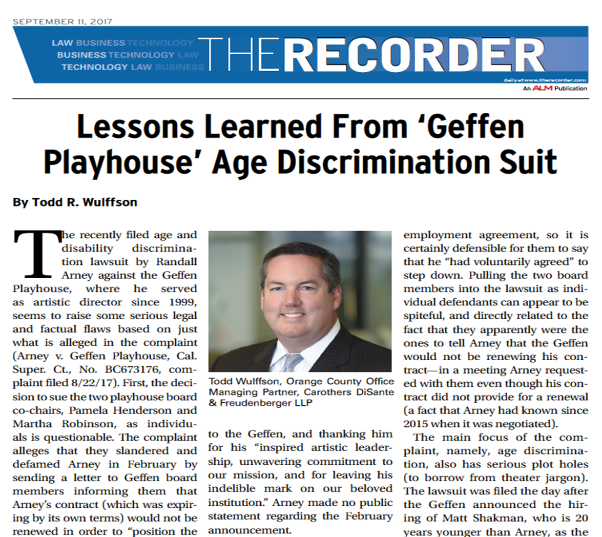 carothers disante & freudenberger llp | news & events | lessons